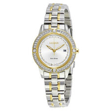 Citizen Silhouette Crystal Eco-Drive Two-Tone Stainless Steel Ladies Watch