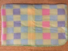 Circo Checked Squares Baby Blanket Blue Green Pink Purple Yellow Fleece NWOT