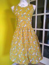 Run & Fly Honey-gold Unicorn Swing Dress Size 6-8