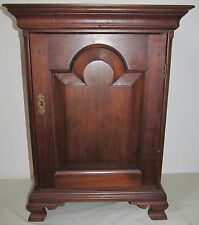 Important 18Th Century Queen Anne Period Walnut Spice Chest With Tombstone Door
