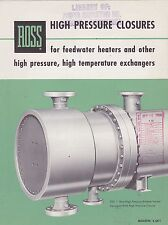 VINTAGE CATALOG #2811 - 1956 ROSS HIGH PRESSURE CLOSURES
