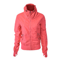 Bench Women's Pink Red Militaristic Zip-Up Jacket