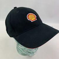 Vintage Shell Gas Embroidered Strapback Baseball Hat Cap Black