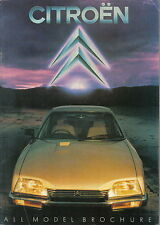 Citroen Range 2CV Dyane Visa GSA CX 1980-81 Original UK Sales Brochure No. K1360