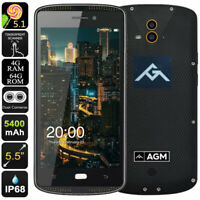 "5.5"" AGM X1 4G LTE Smartphone Unlocked Rugged Android Mobile Waterproof AMOLED"