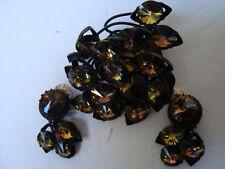 Amazing sgd. Austria Swarovski R/Stone Rivoli Vitrail Medium Brooch/Pin & Earrs