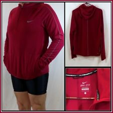 Nike Running Red Long Sleeve Pullover Athletic/Run Shield Size (L) Large #13872