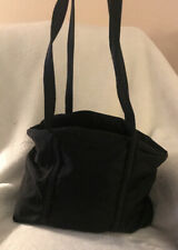 $1400 Prada Black Nylon Embrodiered Hand Bag Purse Certificate Of Authenticity