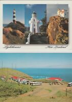 Lot of 2 New Zealand.  Lighthouse Postcards (4x6) *Free Shipping*