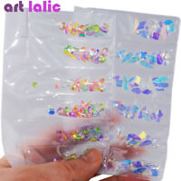 AB Flat Back Acrylic Nail Art Rhinestones Diamond Crystals Gel Polish Tips Decor