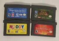 4 Gameboy Advance Games Lion King Winnie the Pooh Noddy Pirates of the Caribbean