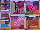 50Pc Wholesale Lot Handmade Kantha Cotton Cushion Case Pillow Cover Set Throw