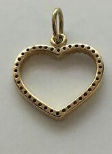 Pandora 14Kt Be My Valentine Diamond Heart Pendant 350177D