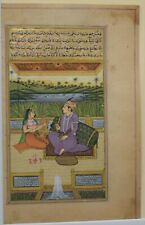 Original indian miniature  painting Mughal style 4 inches by 7 inches