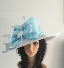 SNOXELL GWYTHER SKY BLUE ASCOT WEDDING HAT MOTHER OF THE BRIDE OCCASION