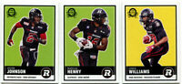 2015 OPC CFL Ottawa Red Blacks Lot of 3 Cards Jovon Johnson, Henry, Williams
