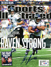 Ray Rice Signed Sports Illustrated No Label Autographed Ravens PSA/DNA S30158