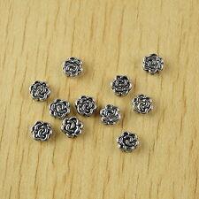 50pcs Tibetan silver sunflower spacer beads H2517