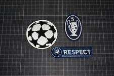 UEFA CHAMPIONS LEAGUE and 5 TIMES CHAMPIONS and RESPECT BADGES 2011-2012