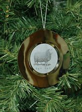 Sheep Plate Christmas Ornament