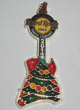 CHRISTMAS 2012 HRC HOLIDAY STAINED GLASS GUITAR NY YANKEE STADIUM HARD ROCK CAFE