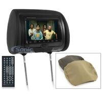 """NEW Planet Audio PH7ACD Single 7"""" TFT-LCD Headrest Monitor w/Built-In DVD Player"""