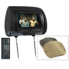 "NEW Planet Audio PH7ACD Single 7"" TFT-LCD Headrest Monitor w/Built-In DVD Player"