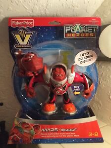 "Planet Heroes Mars ""Digger"" Voicecom Action Figure with Companion Dog NEW Gift"