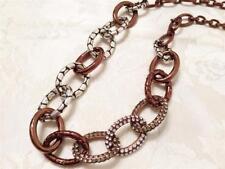 Brighton Pebble Pave Chocolate Necklace with Swarovski Crystal new