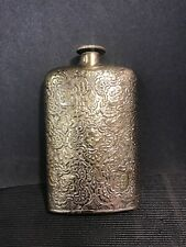 vintage hip flask Beautiful Brass Hand Made In Gd Condition A Collector's Item
