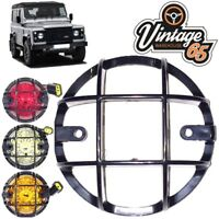 Land Rover Defender Front or Rear 73mm Light Grilles Lamp Stone Guards Pair