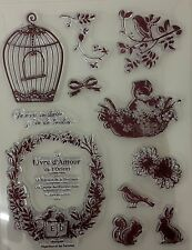 Vintage animaux clear stamp set