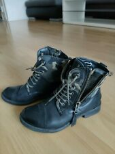 Bugatti 37 Damen Stiefeletten Boots Echtleder schwarz Military