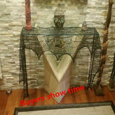 Halloween Lace Cobweb Fireplace Scarf Spiderweb Mantle Cover Home Table Decors