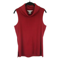 Exclusively Misook Turtleneck Shell Sleeveless Knit Top Winter Layering Sz Small