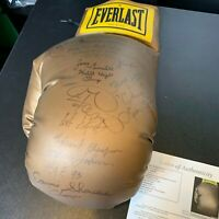 Joe Frazier Foreman Patterson Holmes Boxing Legends Signed Jumbo Glove JSA