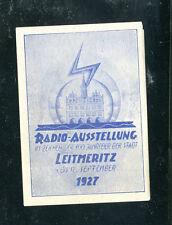 Vintage Poster Stamp Label RADIO AUSSTELLUNG Leitmeritz Germany 1927 Fair Expo