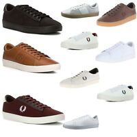 Fred Perry Men Spencer Mesh/Suede/Canvas/Leather Tennis Sneakers Casual Shoes
