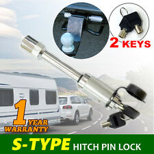S-Type Hitch Pin Lock Security Tow Ball Bar Caravan Trailer Reciever Anti Theft