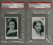 1934 Teofani & Co Ltd Modern Movie Stars & Cinema Celebrities (48) PSA Card Set