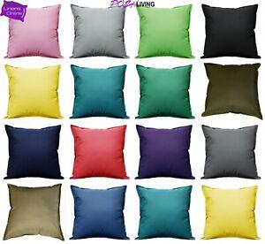 """Waterproof Garden Cushion Covers Outdoor Indoor Luxury Plain 18""""x18""""& 24""""x24"""""""
