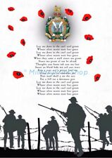 Kings own Scottish Borderers ,Poppy Print. KOSB