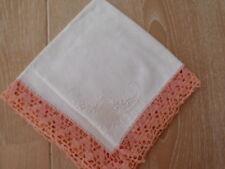 antikes Taschentuch mit edler Spitze, schneeweiß, neu