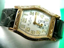 SWISS MADE LE MONTRE LADIES WATCH 10K G/P CASE LUMINOUS HANDS & MARKERS ANALOG