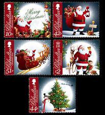Christmas Set of 5 mnh stamps 2012 Gibraltar #1359-63 Santa Sleigh Reindeer Elf