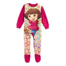 NEW DORA & PUPPY One Piece Fleece Footed Pajama Sleeper  Infant 12M