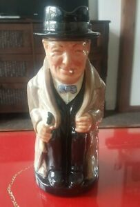 Royal Doulton Winston Churchill Large Toby Jug, excellent condition