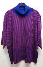 3/4 Arm Damen-Pullover mit Rollkragen ohne Verschluss