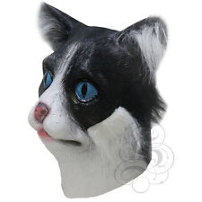 Latex Full Head Cartoon Animal Cat with Fur High Quality Fancy Carnival Masks