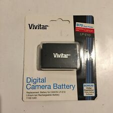VIVITAR LP-E10 Digital Camera Rechargeable Lithium Battery Compatible With Canon